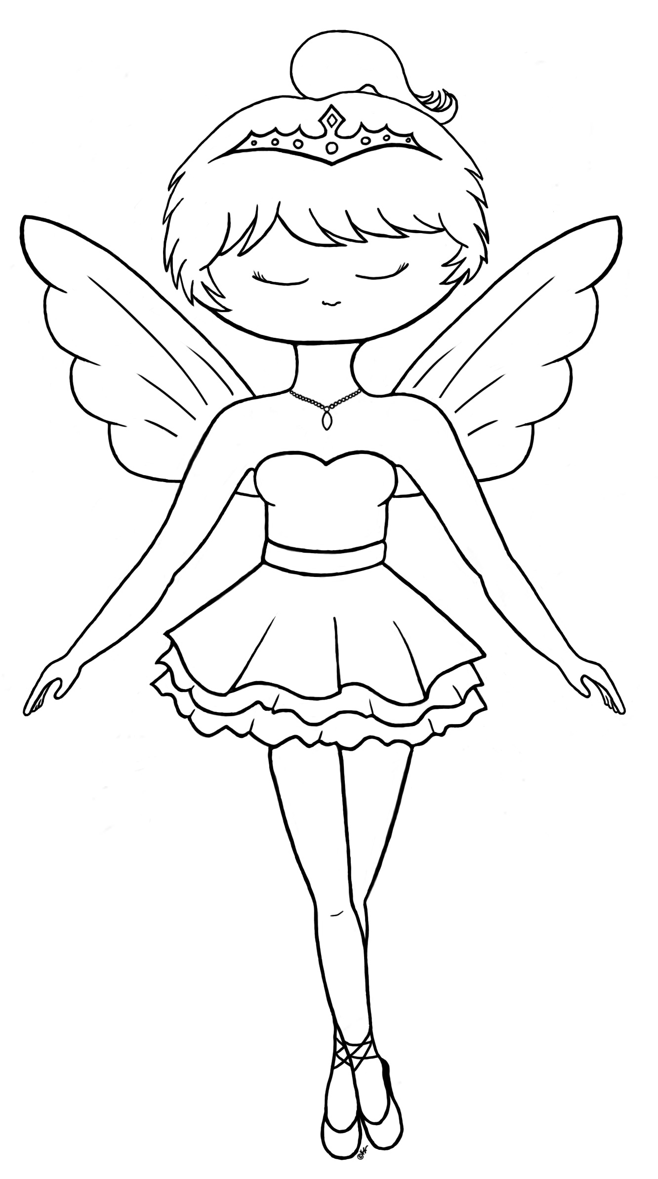 fairy ballerina colouring pages