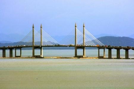 The Penang Bridge in Malaysia
