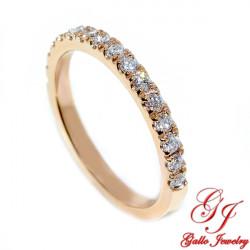 Wb01859 Rose Gold Thin Diamond Wedding Band