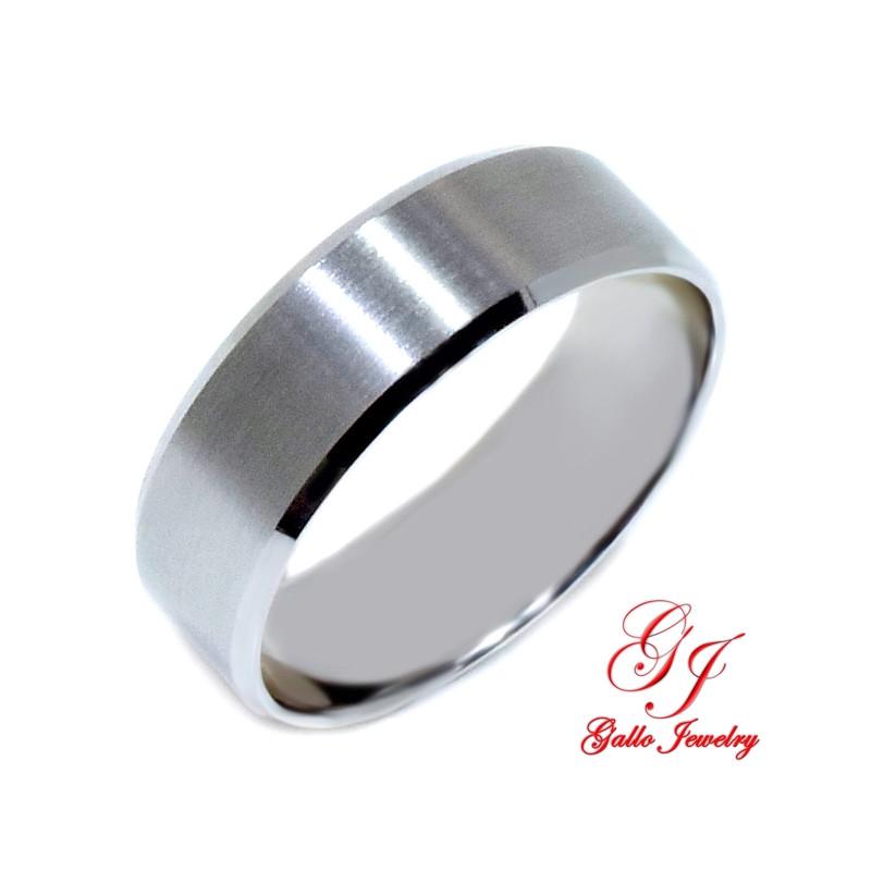 Pwb002 14kt White Gold Unisex 700mm Plain Wedding Band