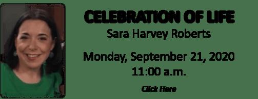 Celebration of Life for Sara Harvey Roberts