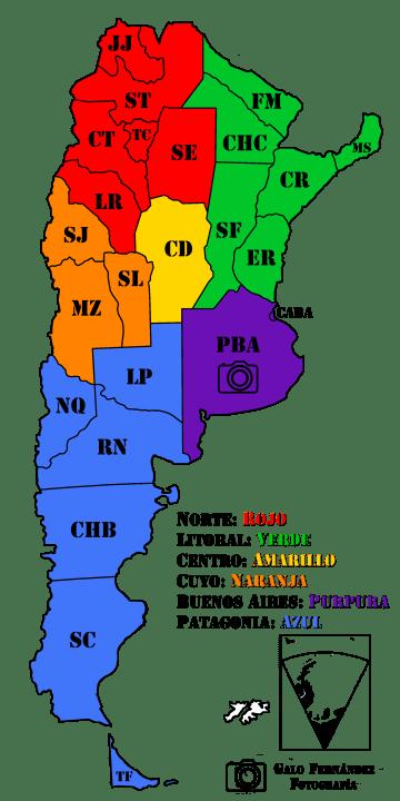 Las Provincias y las Regiones Turísticas Argentinas