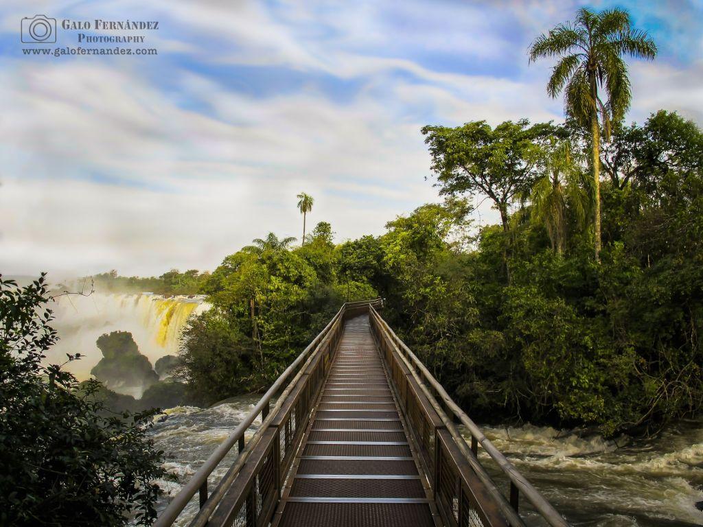 Pasarela en las Cataratas del Iguazú, Puerto Iguazú - MS