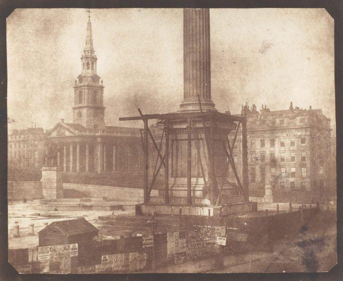 Construcción de la Columna de Nelson en Trafalgar Square.William FOX TALBOT (1844).