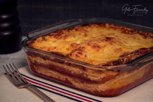 Lasaña de Ricota con Jamón y Queso (Mozzarella y Parmesano)