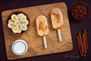 Paletas Heladas de Banana y Dulce de Leche