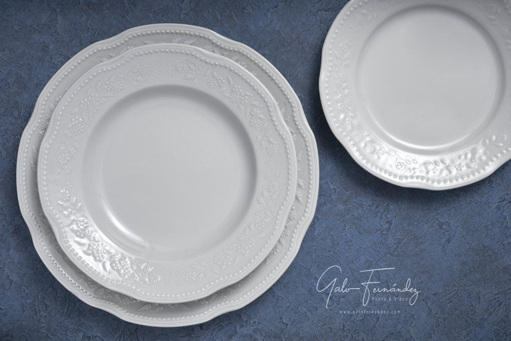 Set de Platos Blancos de Porcelana - Línea Mozart