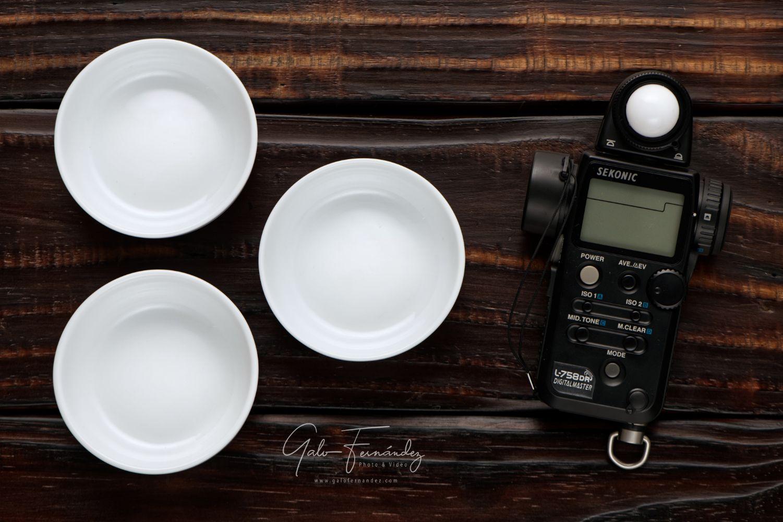 Cazuelas de porcelana & Fotómetro