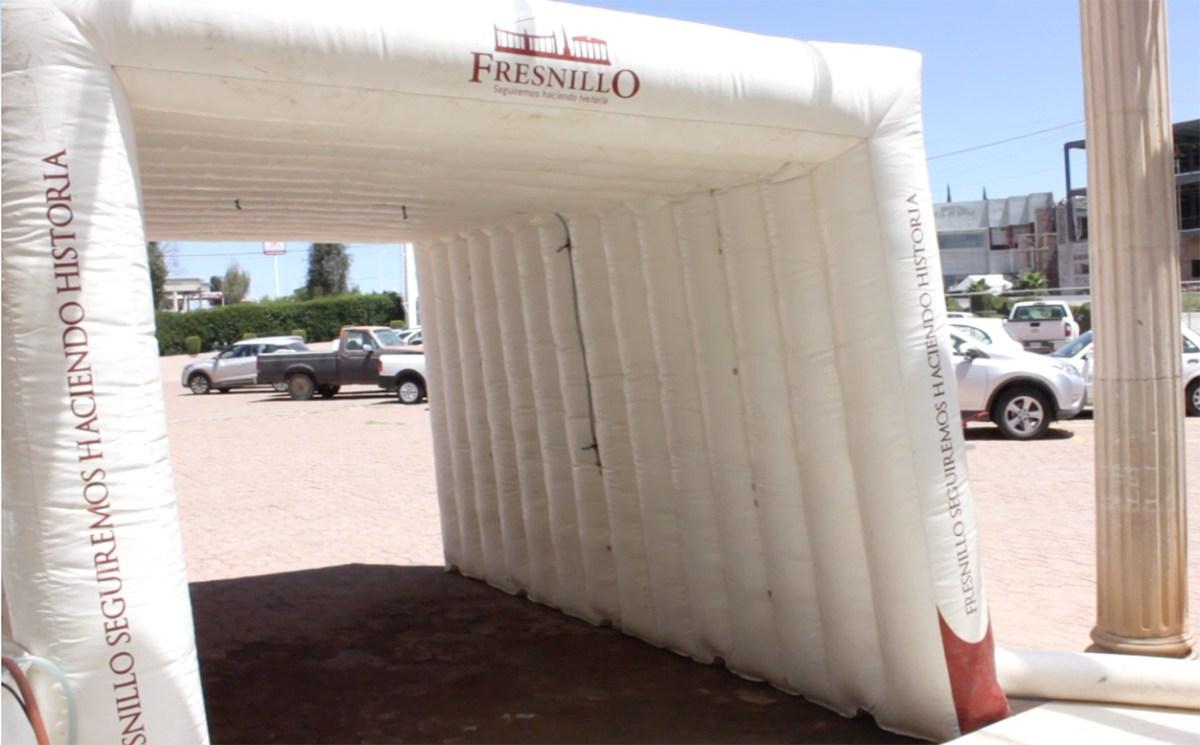 Inflable Sanitizante COVID Free, Mejor Servidor Público Galo Limon Fresnillo, Zacatecas 2020