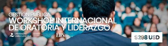 Workshop Internacional de Oratoria y Liderazgo Galo Limón Profesor Universidad Camilo José Cela