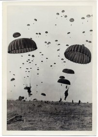 The photo that started it all ... Art's whole division doing a jump to impress a visiting foreign dignitary.