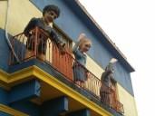 Evita (Eva Perón), Carlos Gardel, and Maradona in La Boca