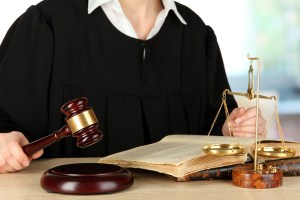 civil appeals judge holding gavel