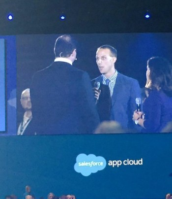 On Stage at Dreamforce