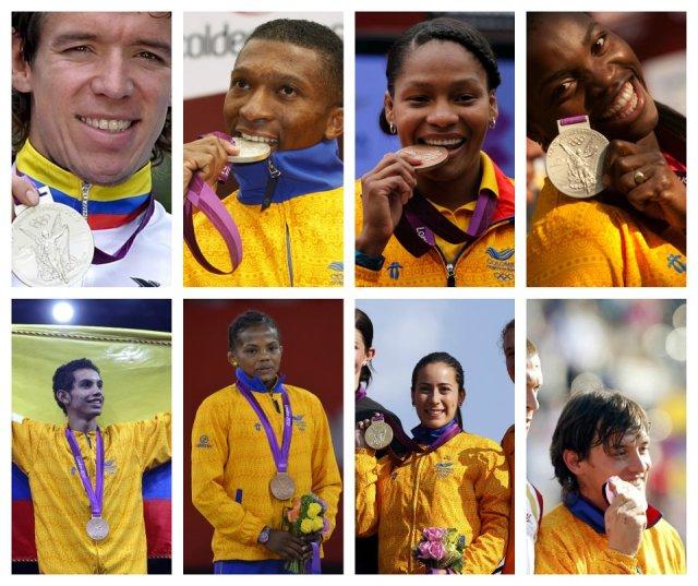 Medallistas colombianos Londres 2012