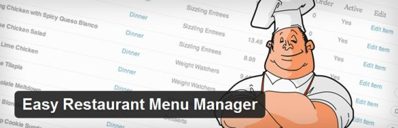 Easy Restaurant Menu Manager wordpress plugin