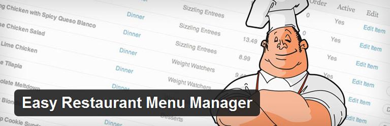 Easy Restaurant Menu Manager wordpress plugin