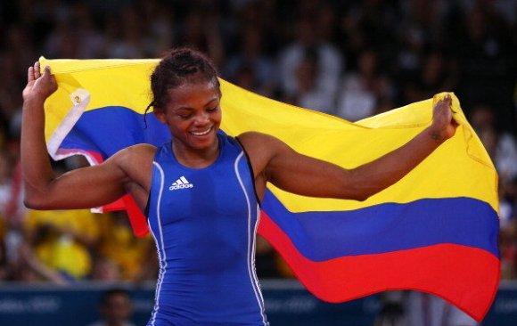 Jaqueline Rentería, Colombia bronce lucha Londres 2012