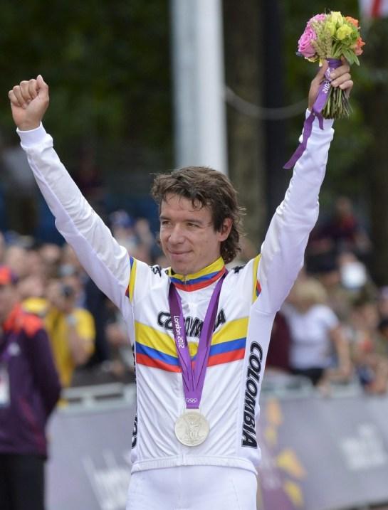 Rigoberto Uran, medalla de plata en ciclismo