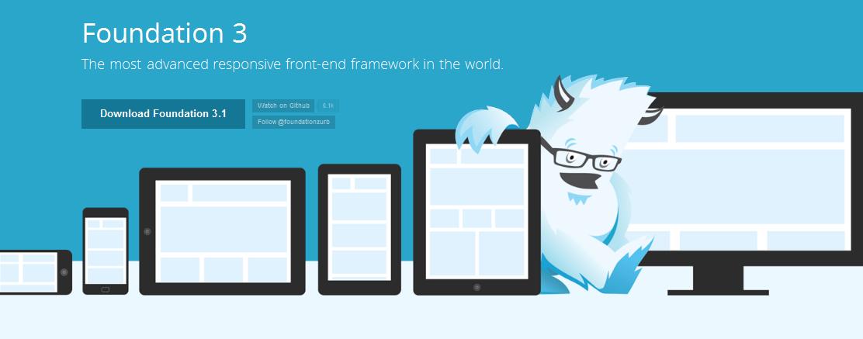 Foundation framework CSS javascript html5 responsive