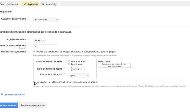 Generar conversion Google Adwords