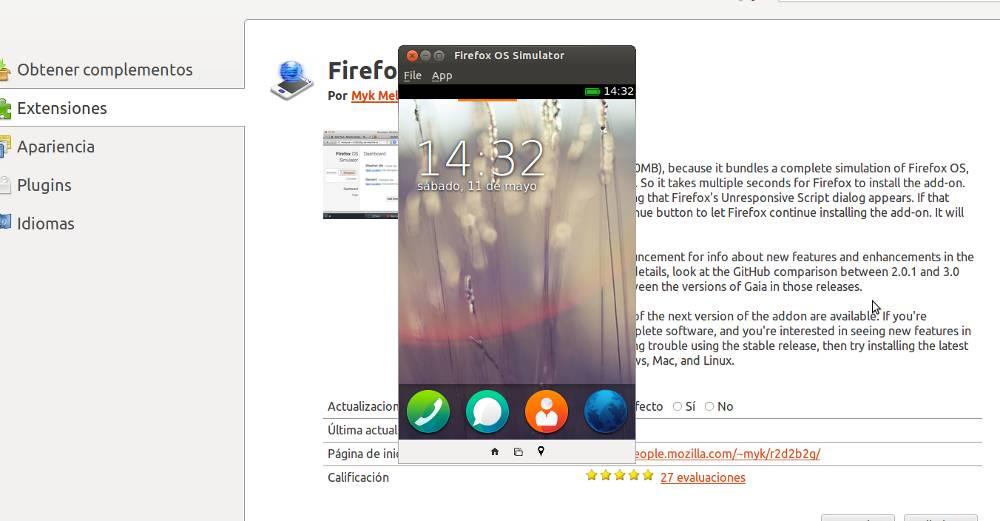 Firefox OS Simulador