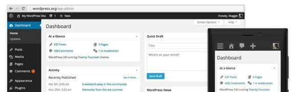 Nuevo WordPress 3.8 Parker