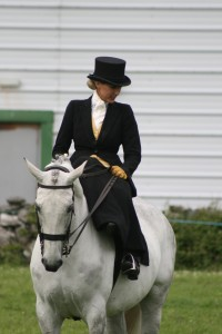 Side Saddle Showing