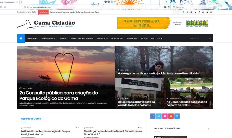 Nova versão do Portal de Notícias Gama Cidadão
