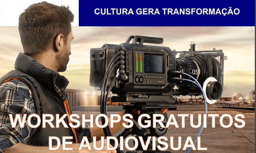 Workshops gratuitos na praça do cine Itapuã