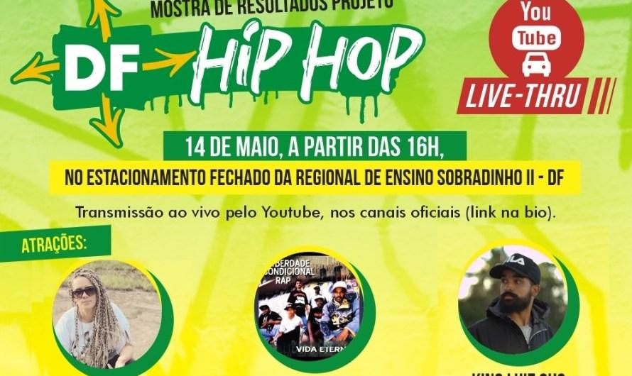 """""""Live -Thru"""" da Mostra de Resultados do Projeto DF Hip Hop"""