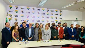 Roberto Jefferson empossa nova Executiva do PTB, no Distrito Federal