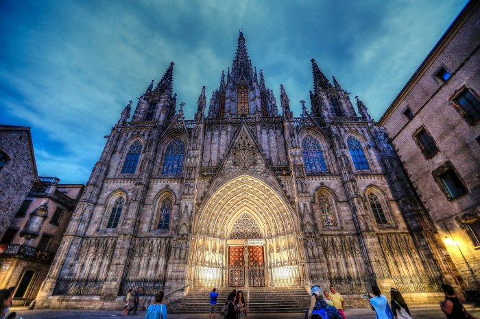 Barcelona Cathedral, in the Gothic Quarter of Barcelona