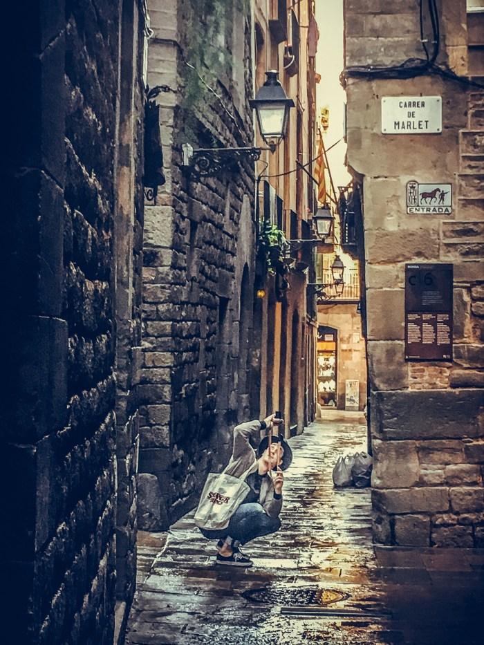 Улицы Готического квартала в Барселоне