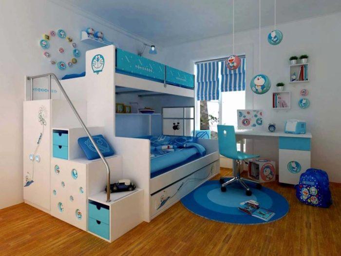 غرف نوم أطفال أولادي ايكيا تركي مودرن بدورين و للتؤام