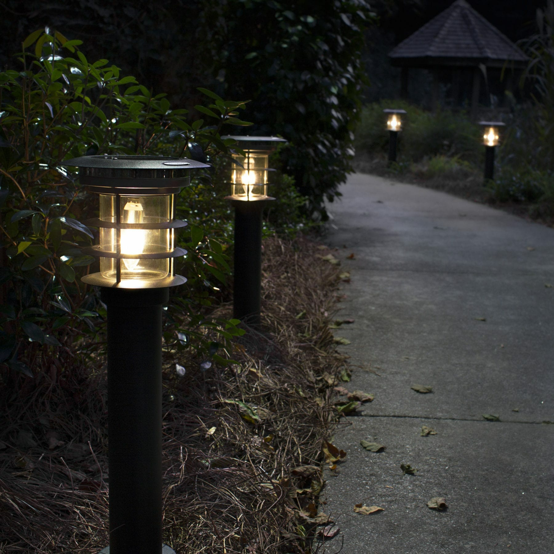 stainless steel bollard solar lamp gs 214 with ez anchor