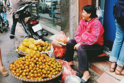 Straßenhändlerin
