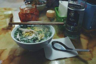 Eine Variante der berühmten vietnamesischen Suppe Pho.