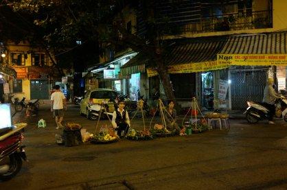 Straßenhändler auf einer Kreuzung