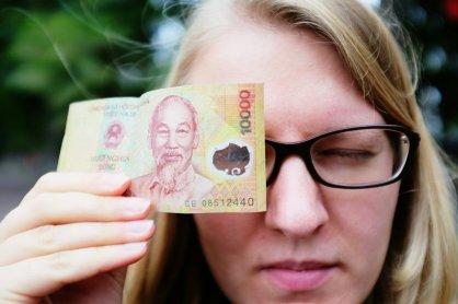Transparentes Geld
