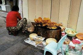 Frittieren auf der Straße