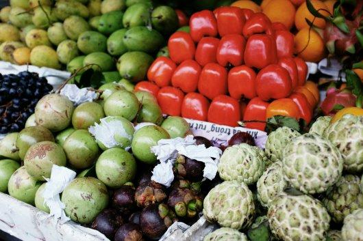 Die Früchte, die aussehen, wie Artischocken, sind sehr lecker