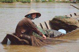 Fischer zieht sein Netz