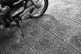 Bürgersteig mit Muster