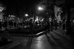 Riesige Aerobik Gruppe auf einem öffentlichen Platz