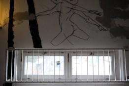 Streetart im Treppenhaus