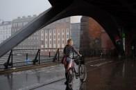 Unwetter auf der Oberbaumbrücke