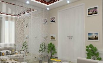 Desain Interior Ruang Tamu dan Keluarga Minimalis 2