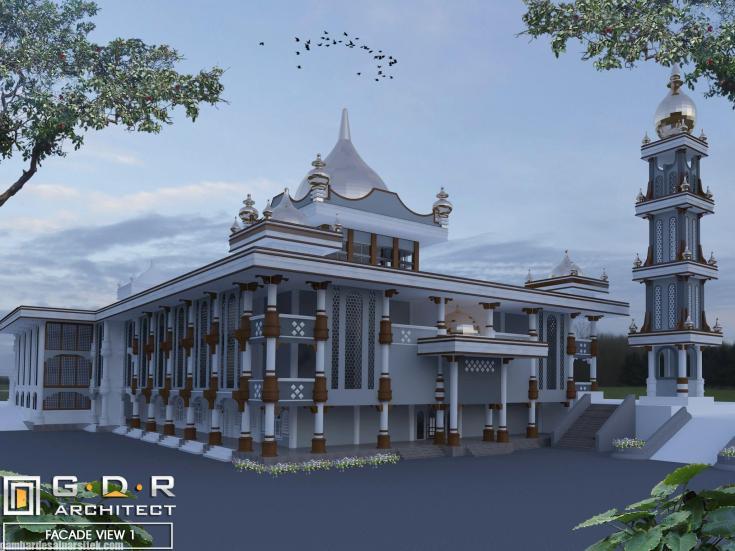 Desain Masjid Minimalis Modern (10)