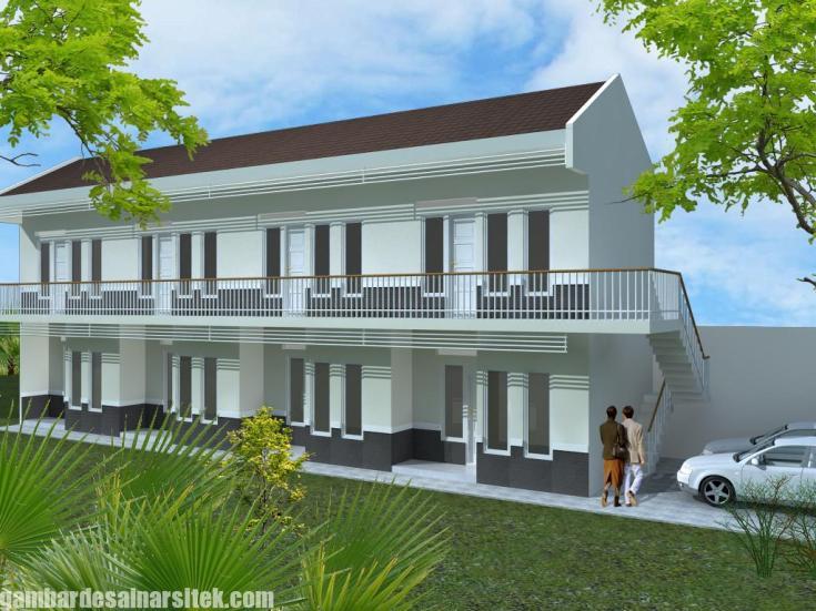 Desain Rumah Kost Minimalis 2 Lantai Model 1 Gambar Desain Arsitek
